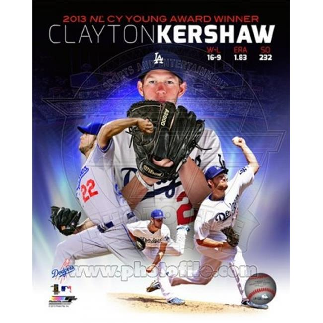 Photofile PFSAAQM18901 Clayton Kershaw 2013 National League Cy Young Winner Portrait Plus Sports Photo - 8 x 10