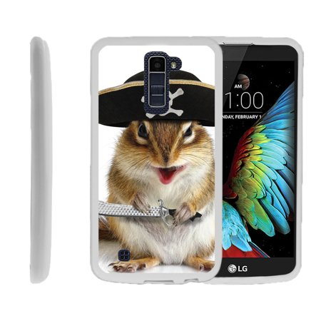LG K10, LG Premier LTE, K430, Flexible Case [FLEX FORCE] Slim Durable TPU Sleek Bumper with Unique Designs - Pirate Squirrel