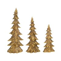 """Set of 3 Rustic Brown Antique Style Christmas Holiday Decor Tree 20.5"""""""