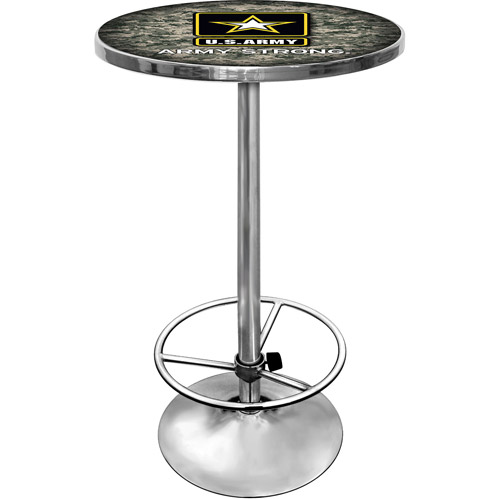 "Trademark U.S. Army 42"" Pub Table, Chrome"
