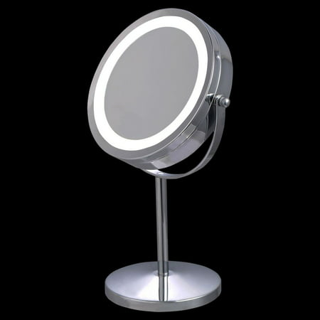 Costway 7 Double Sided Makeup Mirror 18 Led Lights 3x