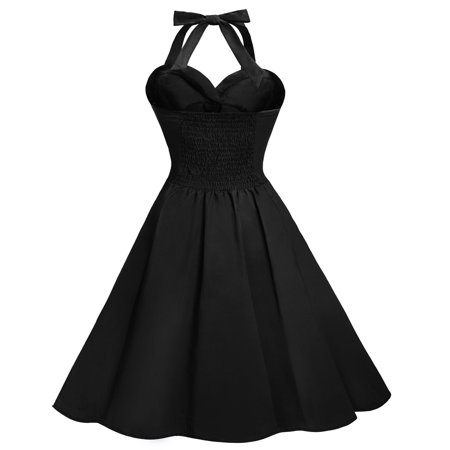 Women's Retro Rockabilly Swing Gothic PARTY PIN UP Dress (Pin Up Style Dresses)