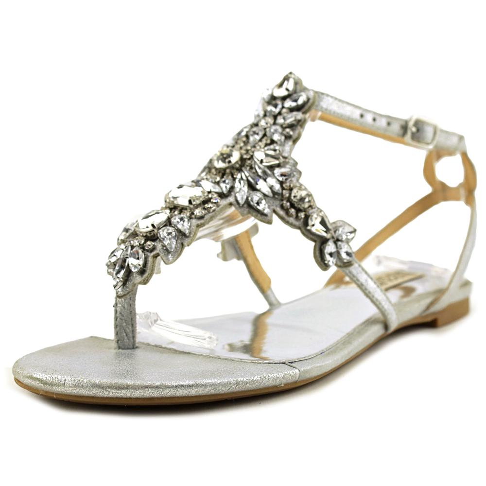 Badgley Mischka Cara II Women Open Toe Synthetic Silver Sandals by Badgley Mischka