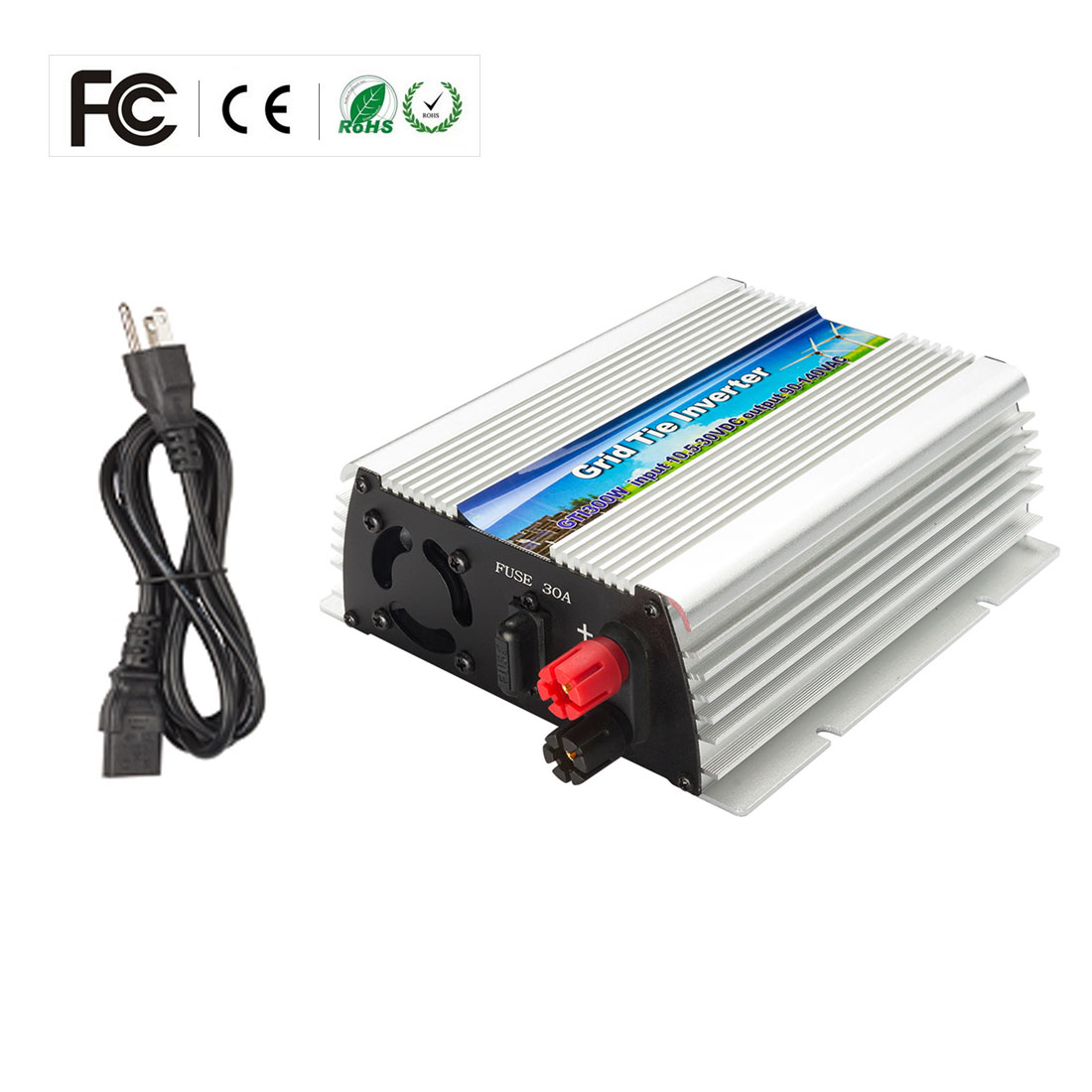 US WV 300W Grid Tie Inverter MPPT For Solar Panel Stackable Pure Sine Wave - image 1 of 7