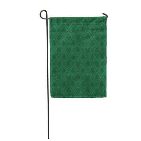 SIDONKU Blackjack Green Pattern Poker Table Casino Vegas Las Garden Flag Decorative Flag House Banner 28x40