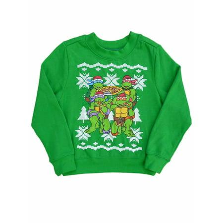 Nickelodeon Toddler Boy Green Teenage Mutant Ninja Turtles Holiday Sweatshirt
