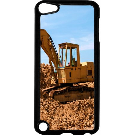 Construction Site   - Hard Black Plastic Case Compatible with the Apple iPod Touch 5th Generation - iTouch 5 - Black Construction Plastic