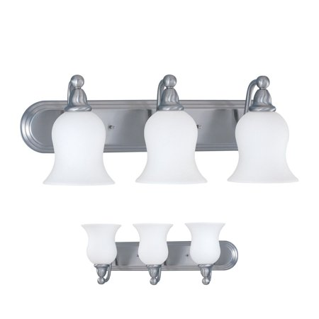 Three Globe Bathroom Vanity Light Bar Bath Fixture Alabaster Glass, Nickel Alabaster Glass Bowl Light Fixture
