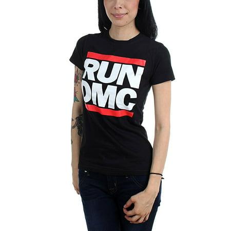 9c5c9321 Bravado - Run DMC Classic Logo Junior Women's T-Shirt - Walmart.com