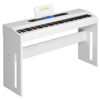 LAGRIMA Electric Digital Grand Console Keyboard Piano for Beginner/Adults with Pedal Board 88 Key White