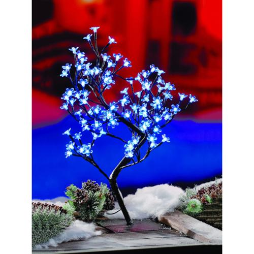 2-foot Blossom Tree 96 Blue LEDS UL Lights Blue