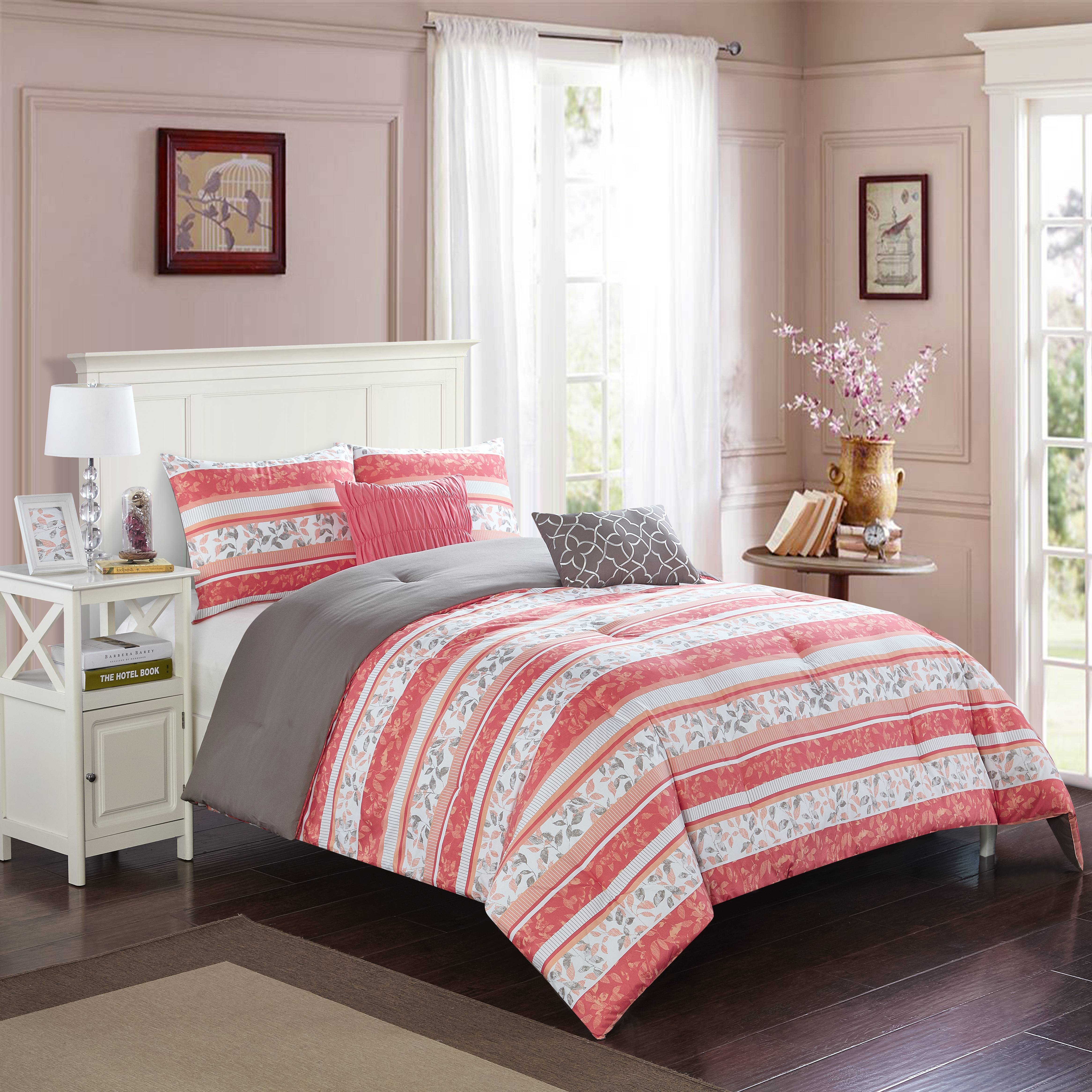 Better Homes and Garden Botanical Stripe 5-Piece Bedding Comforter Set