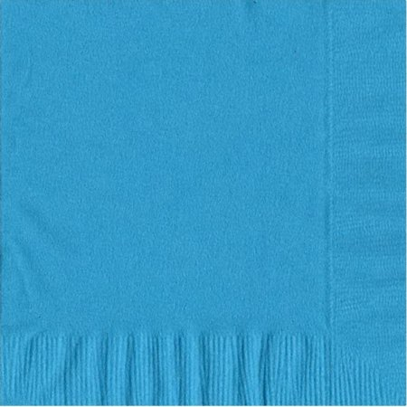 50 Plain Solid Colors Luncheon Dinner Napkins Paper - Turquoise (Dinner Napkins Paper)