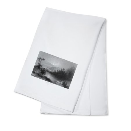Saint John, New Brunswick, Canada - View of Lily Lake (100% Cotton Kitchen Towel)