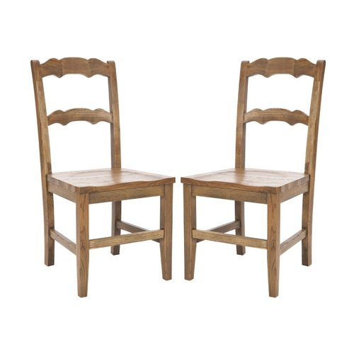 Safavieh Beecher Side Chair, Set of 2, Oak