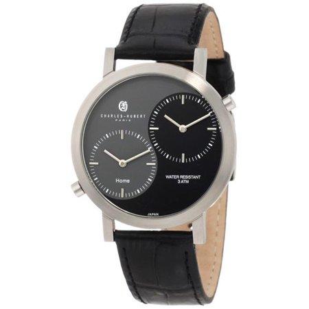 Charles-Hubert Paris Men's Stainless Steel Dual Time Quartz Watch - image 1 of 1