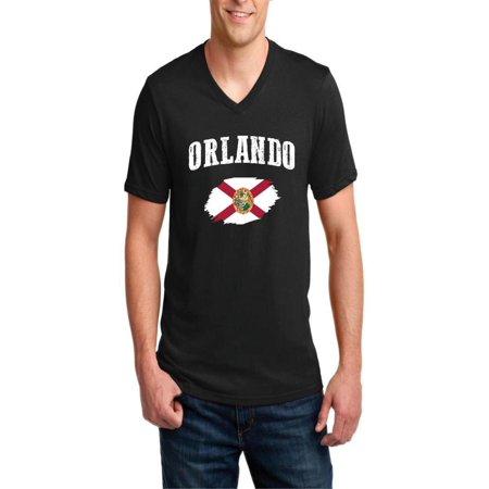 Orlando Florida Men's V-Neck Short Sleeve - Halloween Store Orlando Florida