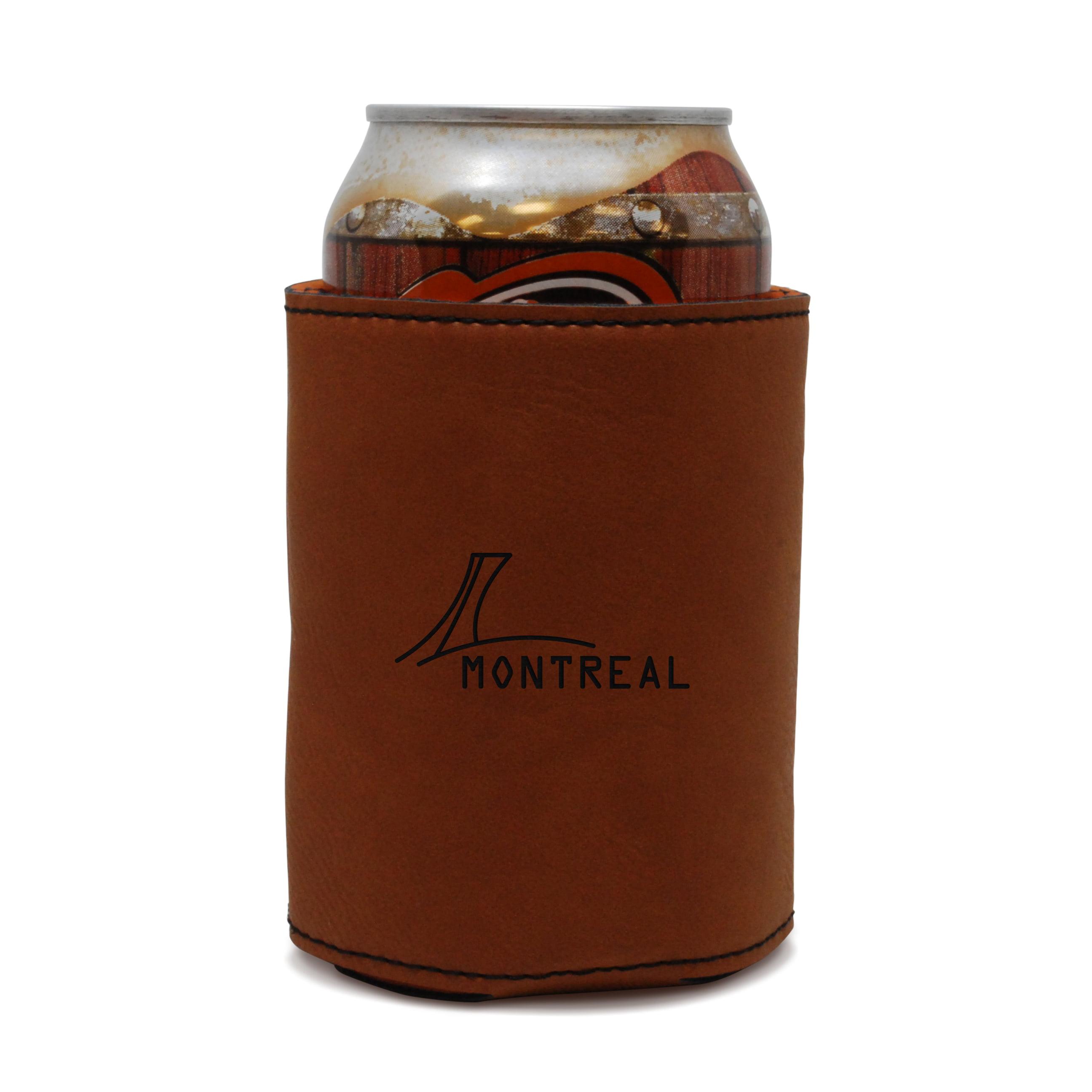 Montreal Leather Can Sleeve, Beer Sleeve, Beer Cooler, Beer Hugger