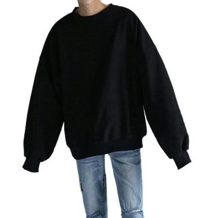VICOODA Women Men Crewneck Sweatshirt Unisex Sweatshirts Basic Casual Sweatshirts Fleece Crewneck Sweatshirt Long Sleeve Plain Sweatshirt