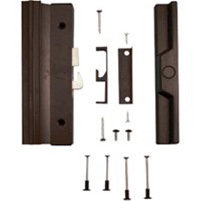 Prime-Line C 1125 Anti-Lift Sliding Door Handle Set, Black Aluminum/Diecast