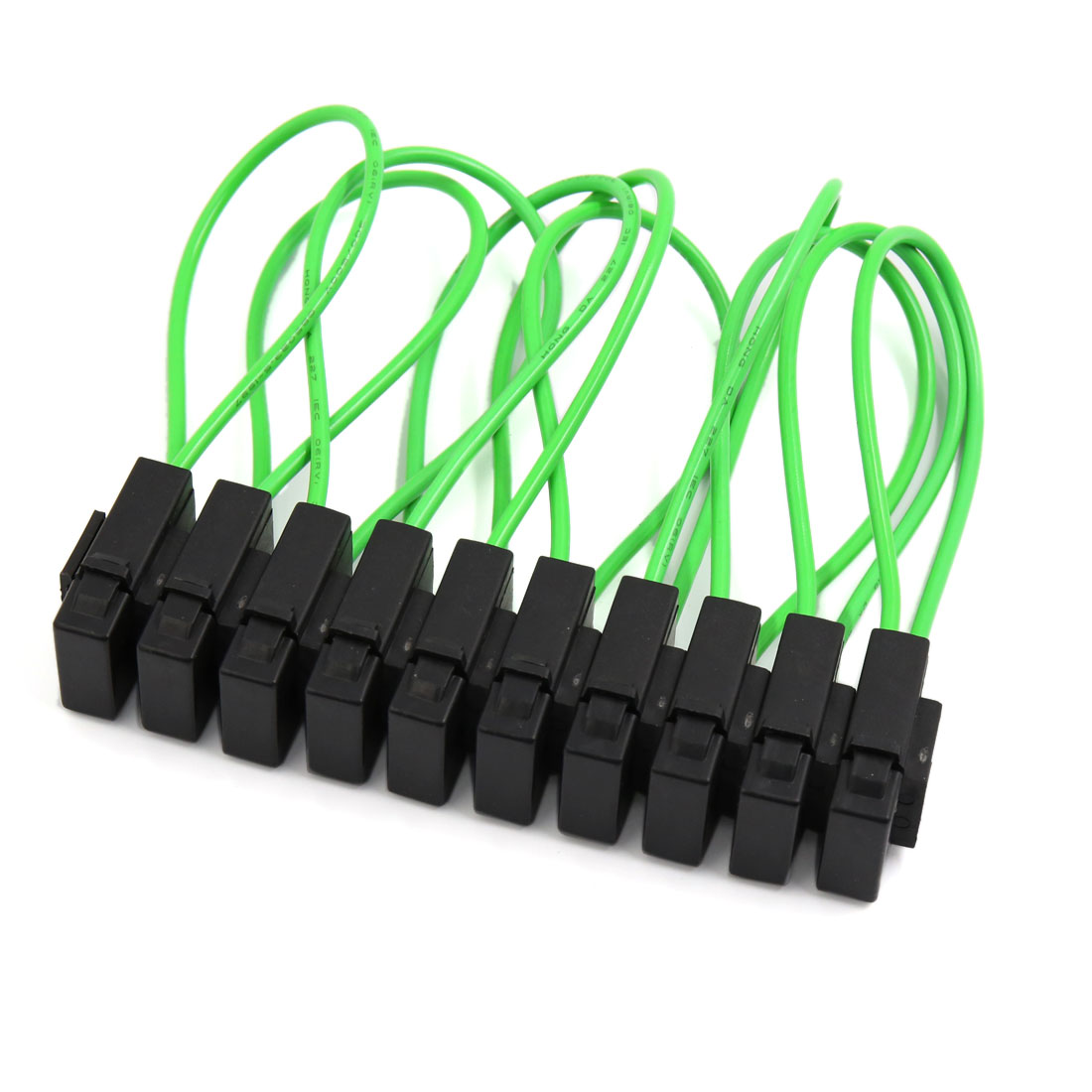 Accessory Motorcycle Fuse Box Electrical Wiring Diagrams 10pcs Green Black Plastic Car Wire In Line Holder Block