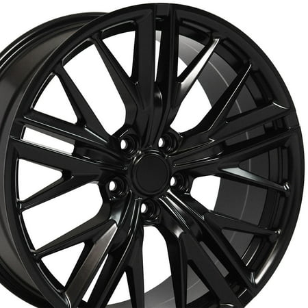 Larger Rear Wheels (OE Wheels 20 Inch ZL1 Style | Fits Chevy Camaro CV25 Satin Black 20x9.5 Rim - REAR ONLY)