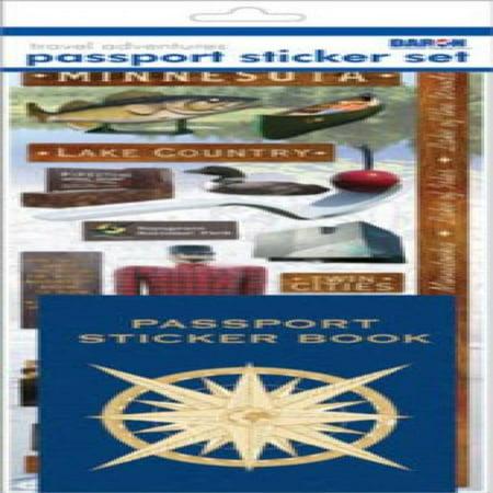Passport Stickers (Passport Sticker Sets PP59196 Passport or Scrapbooking Sticker)