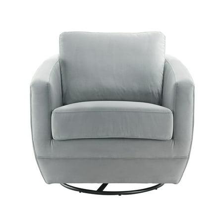 Karla Dubois Gogh Swivel Chair, Dappled Gray