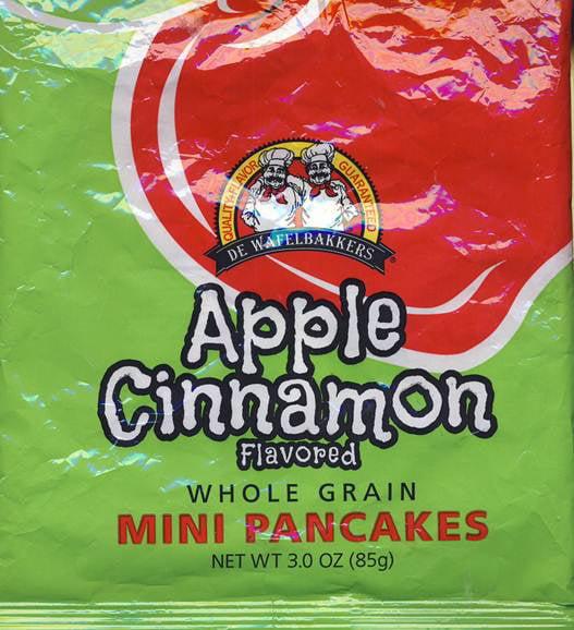 De Wafelbakkers Apple Cinnamon Flavored Whole Grain Mini Pancakes, 3 oz