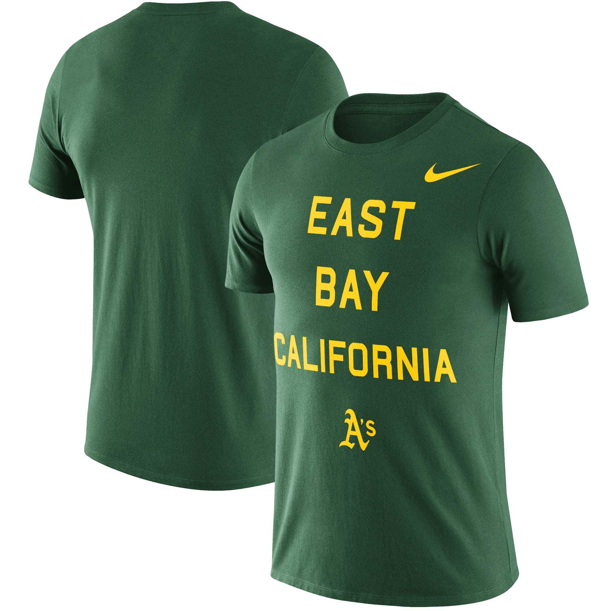Oakland Athletics Nike Local Phrase Performance T-Shirt - Green