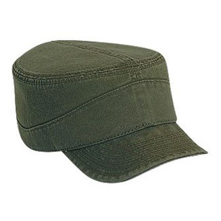 Otto Cap Superior Garment Washed Cotton Twill Flexible Soft Visor Military Style Caps - Hat / Cap for Summer, Sports, Picnic, Casual wear and Reunion (Soft Style Cotton)