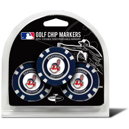 Team Golf MLB Cleveland Indians 3 Pack Golf Chip Ball (Lsu Ball Marker)