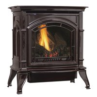 31,000 BTU Vent Free Natural Gas Stove Mahogany Enameled Porcelain Cast Iron