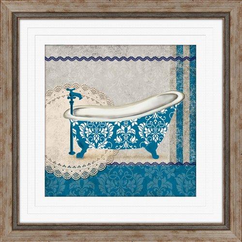 PTM Images Garden Bath I Framed Graphic Art