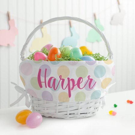 Personalized Polka Dots Girls' Easter Basket