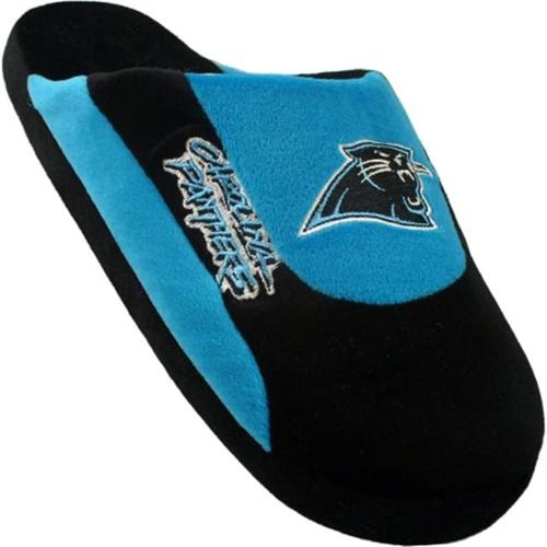 Happy Feet Mens and Womens Carolina Panthers - Low Pro Slippers - Large