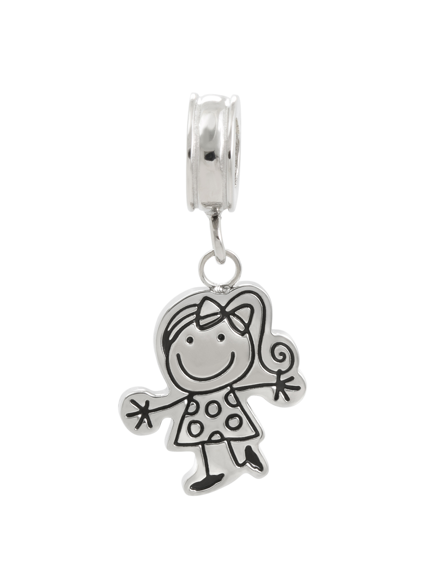 Connections from Hallmark Stainless Steel Girl Dangle Charm