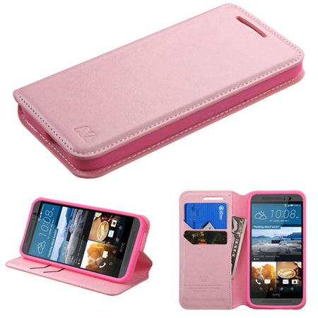 Insten Flip Leather Fabric Cover Case w/stand/card slot For HTC One M9 -