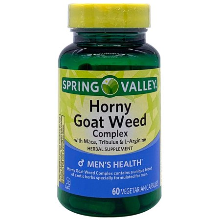 Horny Goat Weed 60 Capsules (Spring Valley Horny Goat Weed Complex, Vegetarian Capsules, 60 Count )