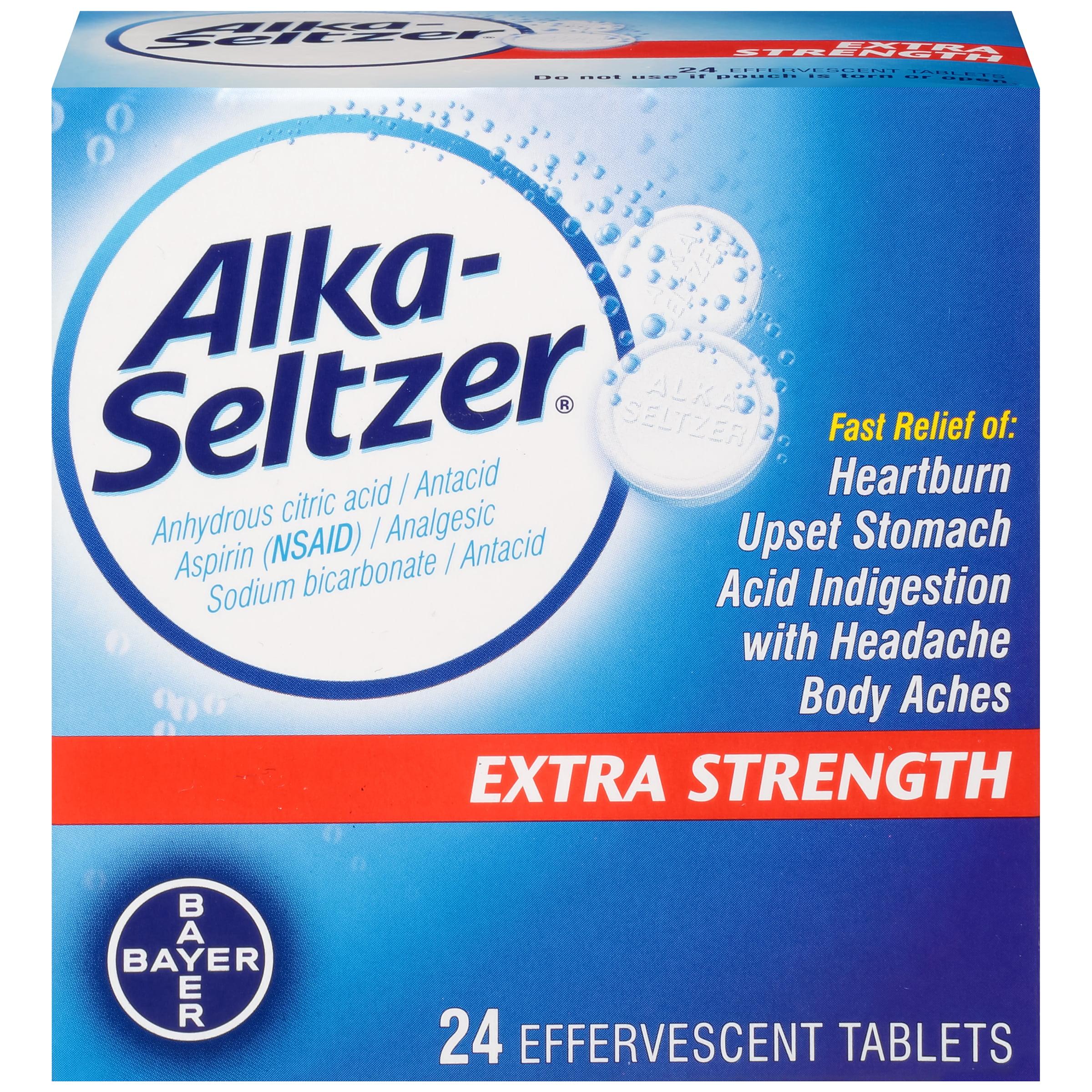 Alka-Seltzer Extra Strength Effervescent Tablets, 24 Count