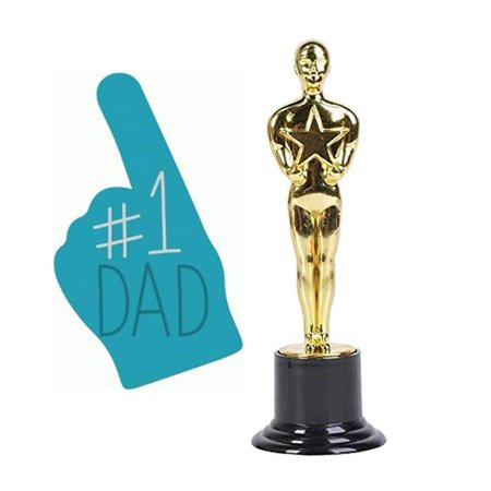 Happy Fathers Day #1 Dad Trophy Special Parent Love Award Gift Novelty Happy Fathers Day