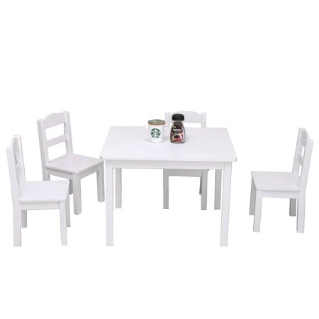 Ktaxon Kids Table And Chairs Set 4 1 Activity For Children Toddlers Furniture