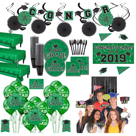 Party City Ultimate Congrats Grad Graduation Party Kit for 100 Guests, Everything You Need for an Epic Party - Party City Rockville