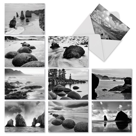 M3309 On The Rocks: 10 Assorted Blank Note Cards with Envelopes, The Best Card