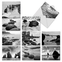 M3309 On The Rocks: 10 Assorted Blank Note Cards with Envelopes, The Best Card Company