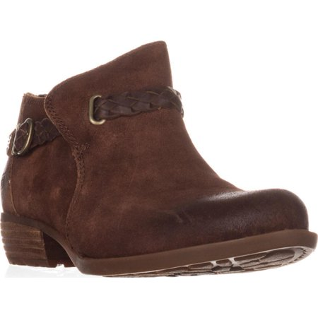 Womens Born Sylvia Low Rise Western Ankle Boots, Rust (Ride Boots)
