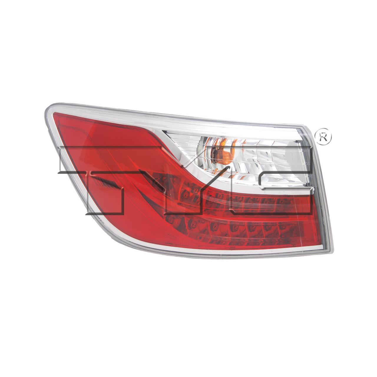 Replacement TYC 11-6421-00-9 Passenger Side Tail Light For
