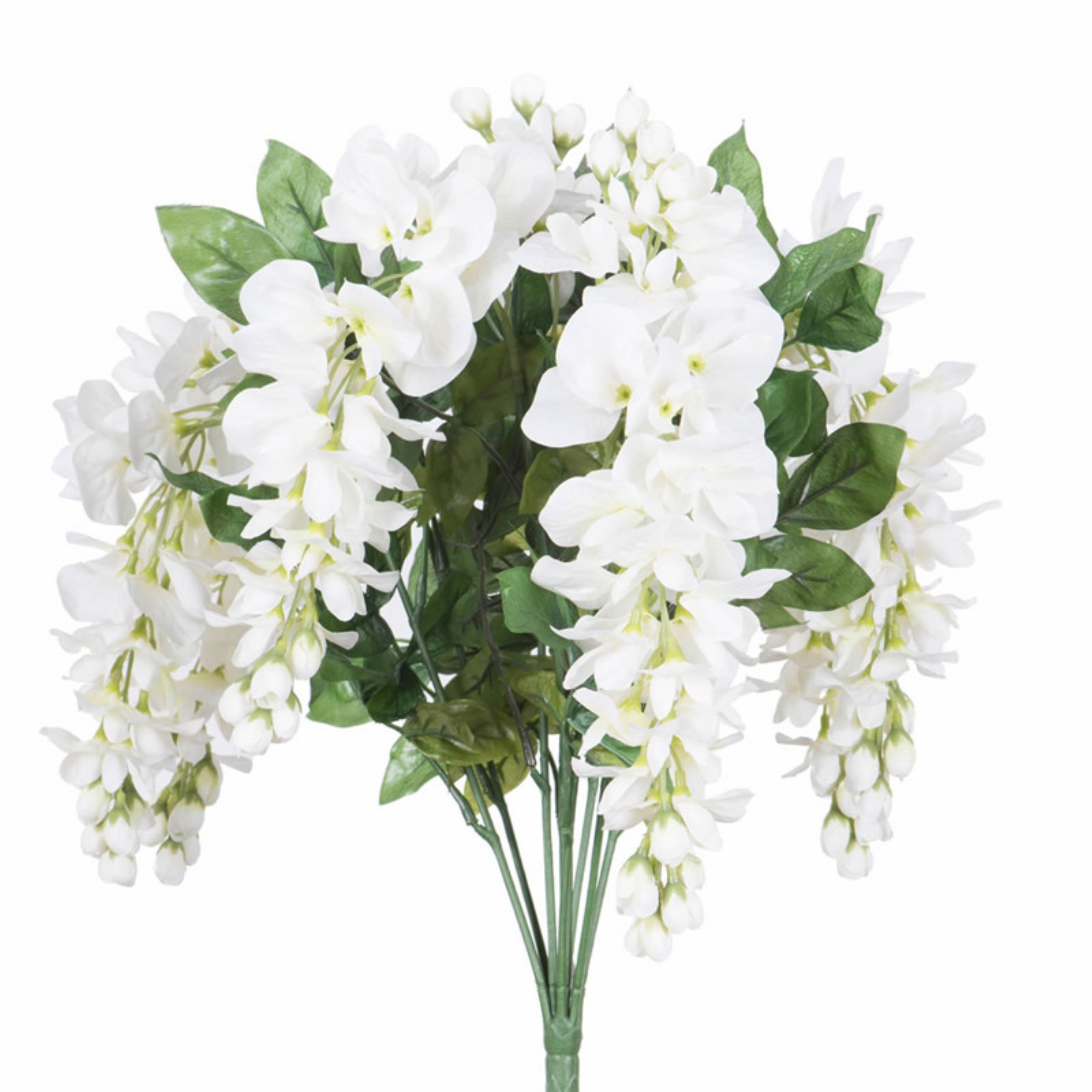 "Vickerman 19"" Artificial White Wisteria Bush"
