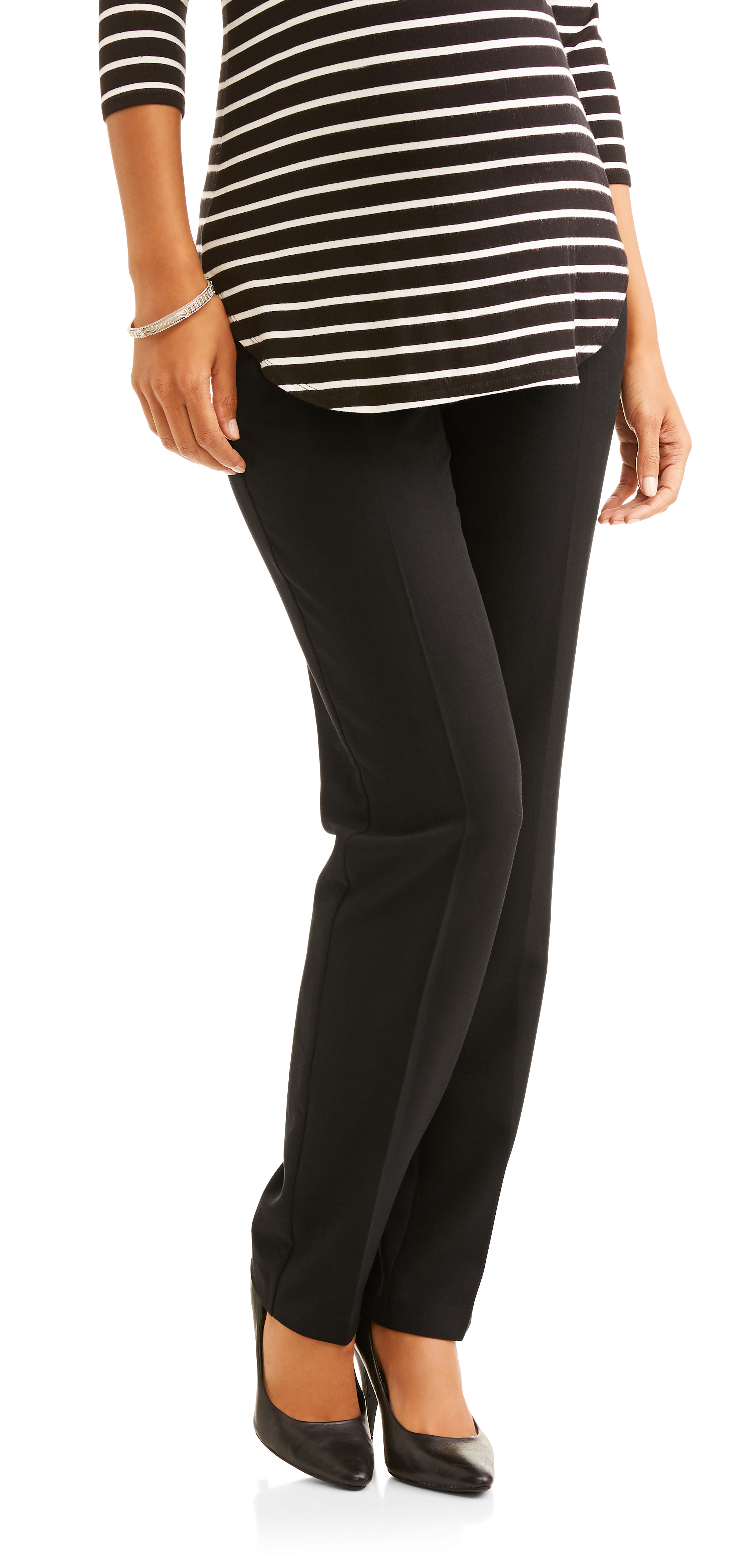 Oh! Mamma Maternity Full-Panel Straight Leg Career Pants