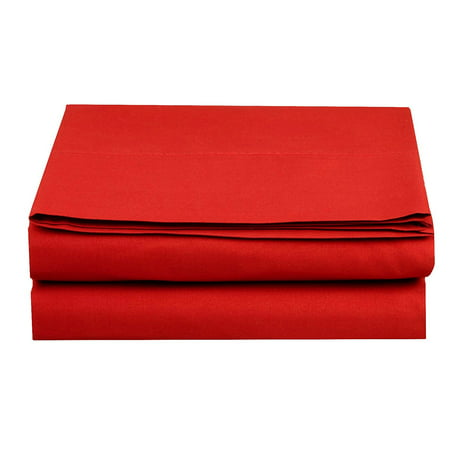 Fitted Sheet ! - Elegant Comfort® Wrinkle-Free 1500 Thread Count Egyptian Quality 1-Piece Fitted Sheet, Full Size, Red ()